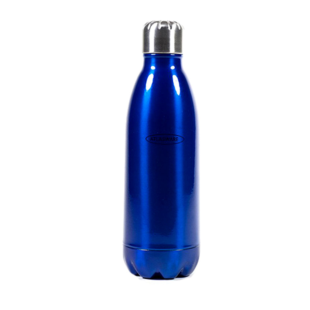 Atlasware Stainless Steel Hot & Cold Vacuum Bottle-Blue ...